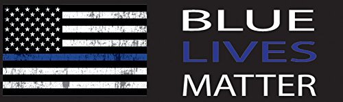 - Rogue River Tactical Lives Matter Flag Auto Decal Bumper Sticker Support Law Enfocement Police Officers Thin Blue Line, 10'' L x 3'' W, Large, Blue (American Flag)