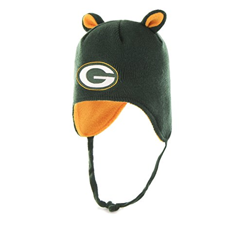 NFL Green Bay Packers Toddler Scalywag OTS Knit Cap with Ears, Dark Green, Toddler