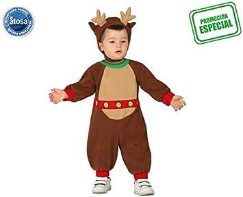 Atosa-28853 Disfraz Reno Niño Bebé-Talla 0, Color marrón, 0 a 6 ...