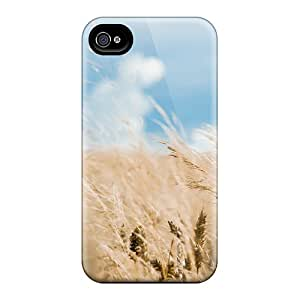 Fashion Tpu Case For Iphone 4/4s- Sky And Field Defender Case Cover