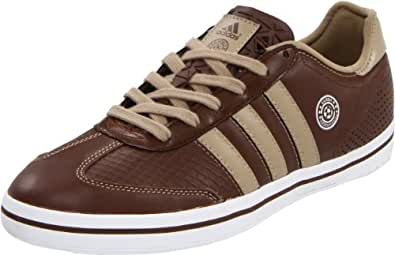 adidas Men's Samba Vulc Iii Lux Soccer Inspired Shoe,Strong Brown/Clear Sand/White,4 D US