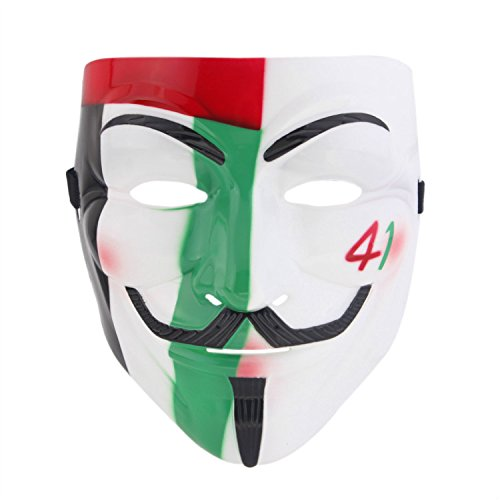 [YIDEA Fashion Resin V Shape Anonymous Guy Fawkes Halloween Masks Fancy Cosplay] (Anonymous Man Costume)