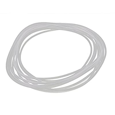 uxcell 5M Length 2mm x 3mm Food Grade Transparent Silicone Rubber Tubing Hose Pipe