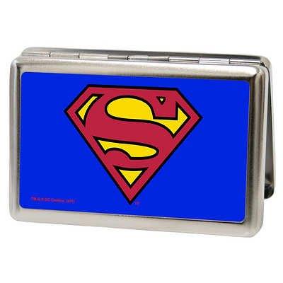 (2x4) DC Comics - Superman Logo Shield Blue Business Card Holder