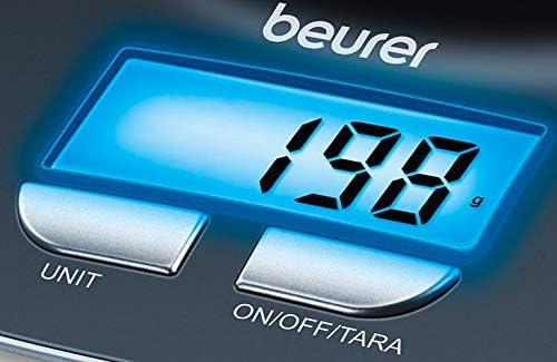 Beurer KS 25 Balanza de cocina con bol transparente, función auto ...