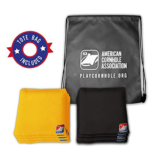 black and yellow corn hole bags - 8