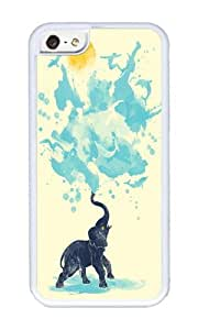 Apple Iphone 5C Case,WENJORS Adorable summer splash Soft Case Protective Shell Cell Phone Cover For Apple Iphone 5C - TPU White