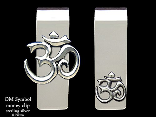 Om Symbol Money Clip in Solid Sterling Silver Hand Carved, Cast & Fabricated by Paxton by Paxton Jewelry