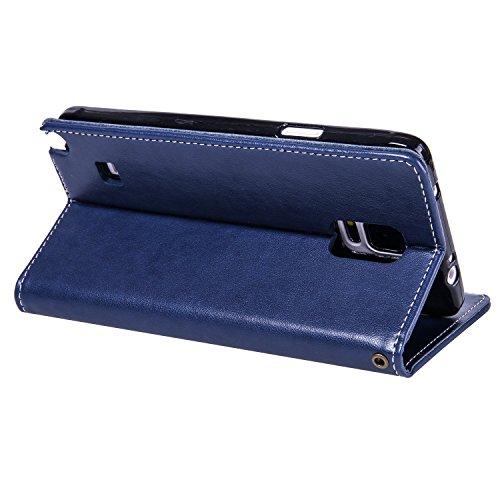 Rilievo Lomogo Credito Di Pelle Porta Custodia Hoha22481 In Zaffiro Note4 Per Galaxy Samsung Note Blu Cover Portafoglio Carta Magnetica Con Chiusura 4 Fiore 0Cxnq06rwA