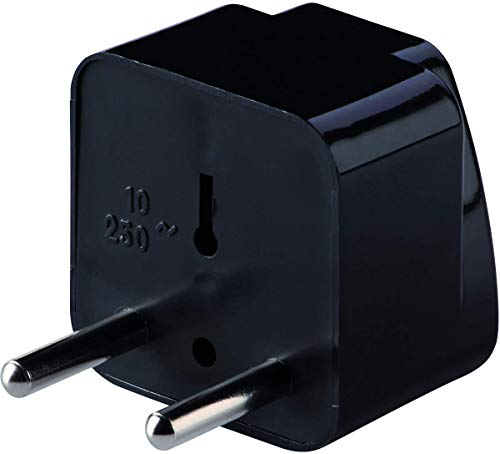 - Lewis N. Clark  Europe-Asia Universal Receptacle Adapter, Black, One Size
