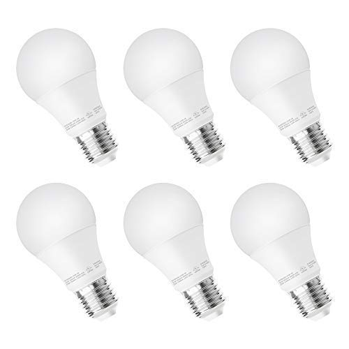 NOVELUX A19 Dimmable LED Light Bulb 100W Equivalent, 15W, 1500LM, 5000K (Daylight), E26 Medium Screw Base for Home, Kitchen, Living Room, 5 Years Warranty, Energy Saving UL Listed Pack of 6