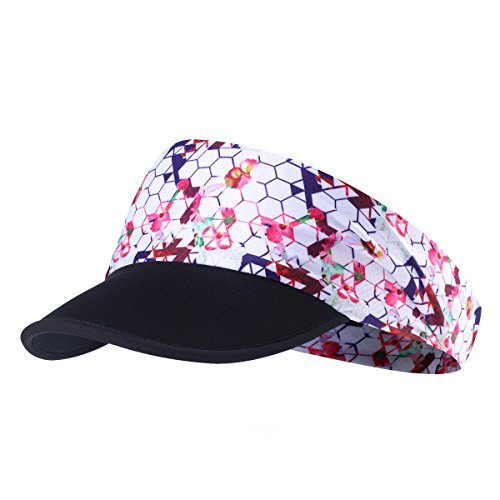 (Qinglonglin Sun Visors for Women - Yoga Headband Outdoor Peaked Golf Cap Headwear Visor Hat Race Gear UV Protection for Men & Women Breathable & Moisture Wicking)