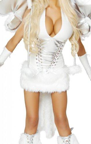 [J Valentine Women's Pegasus Unicorn Sexy Halloween Costume Extra Large White] (J Valentine Unicorn Costume)