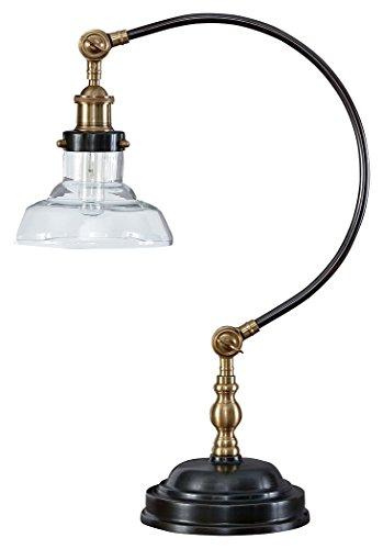Ashley Furniture Signature Design - Asahavey Metal Desk Lamp - Industrial - Antique Bronze Finish