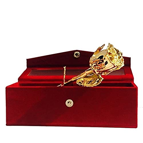 Best gifts for husband amazon parth impex premium 24k gold dipped rose in beautiful velvet gift box best unique gift for husband wife mom dad mother valentines day wedding anniversary negle Images