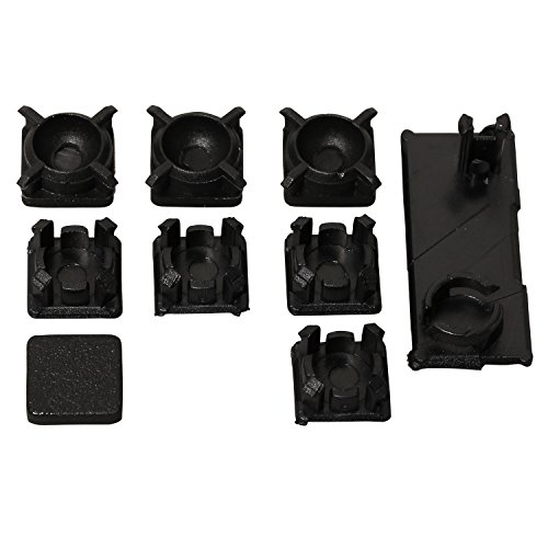 eJiasu Screw Feet Cover Kit Rubber Boot Pad Replacement for Playstation 3 Sony PS3 Slim 2000 3000 Console( Pack of 9 ) (2sets)