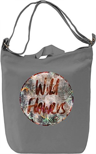 Wild Flowers Borsa Giornaliera Canvas Canvas Day Bag| 100% Premium Cotton Canvas| DTG Printing|