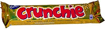 Crunchie Milk Chocolate with Honeycomb Center - Pack of 6 x 32g Bars