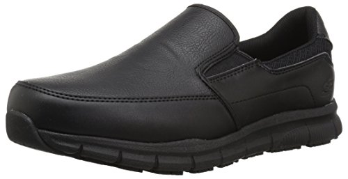 Skechers for Work Men's Nampa-Groton Food Service Shoe,black polyurethane,9 M US
