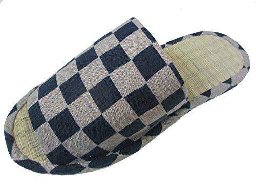 Laget I Japan, Hon-ai-zome Japansk Stil Tøfler M / Tatami, Ekte Indigo Farget