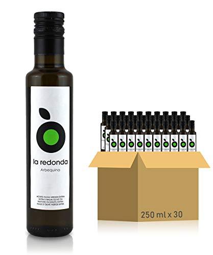 La Redonda – Aceite de Oliva Virgen Extra 100% Arbequina – 250ml x 30 – Botella Cristal – Cosecha Temprana Exclusiva de…