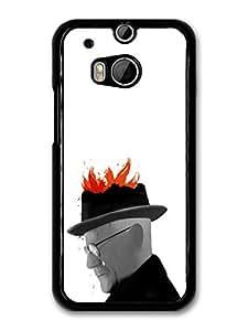 Breaking Bad Heisenberg Walter White Fire Art case for HTC One M8 by mcsharks