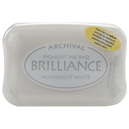 (Tsukineko Brilliance Pigment Inkpad, Matte Moonlight White)
