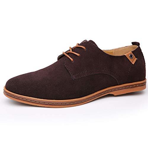 Cow Suede Leather Shoes Men 2019 Fashion Men Casual Shoes Oxfords Shoes,Brown Shoes,9