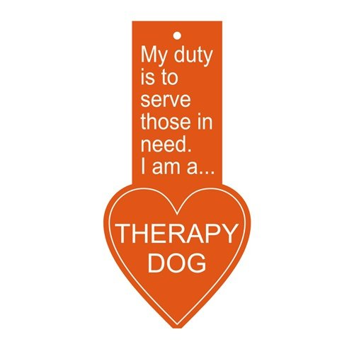 Therapy Dog Tag - Hanging Heart Tag