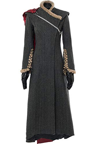 Cosplaysky Game of Thrones Costume Season 7 Daenerys Targaryen Dress Medium Grey]()