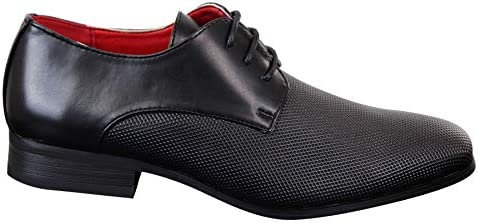Mens Classic Laced PU Leather Smart Casual Shoes Black Office Wedding Prom Round