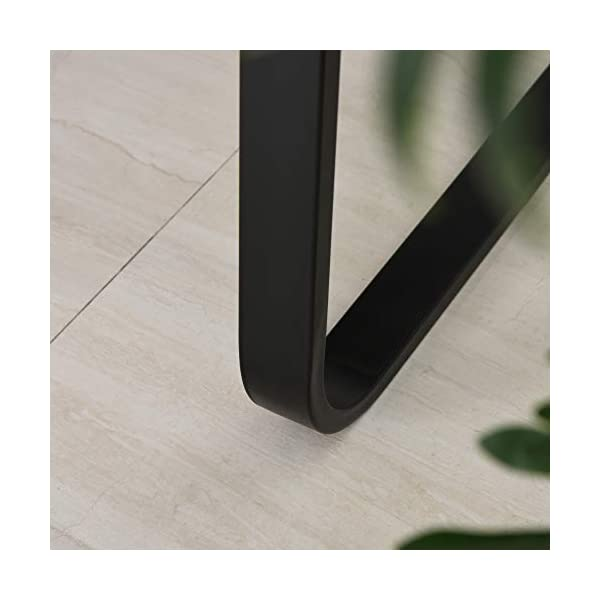 HOMCOM Bureau Design Industriel châssis métal Noir Plateau Panneaux Particules Coloris boisé