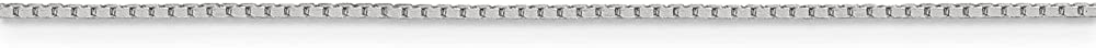 Solid 925 Sterling Silver .7mm 4 Sided Diamond-cut Mirror Box Chain Necklace