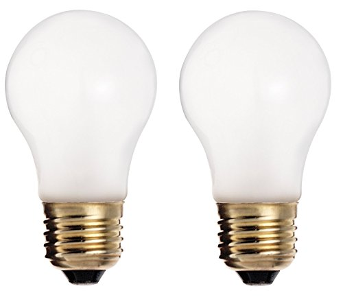 Satco S3871 Model 60A15/F Medium Base Frosted Light Bulb (Pack of 2), 60 Watt, A15 Lamp, E26 ANSI Base, 2500 Average Rated Hours, 570 Lumens, 130 volts, Household or Commercial Use, Long Life