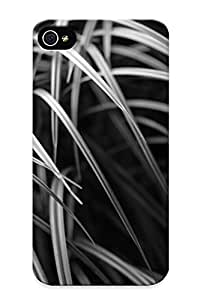 Anettewixom Ultra Slim Fit Hard Case Cover Specially Made For Iphone 4/4s- Monochrome Grass