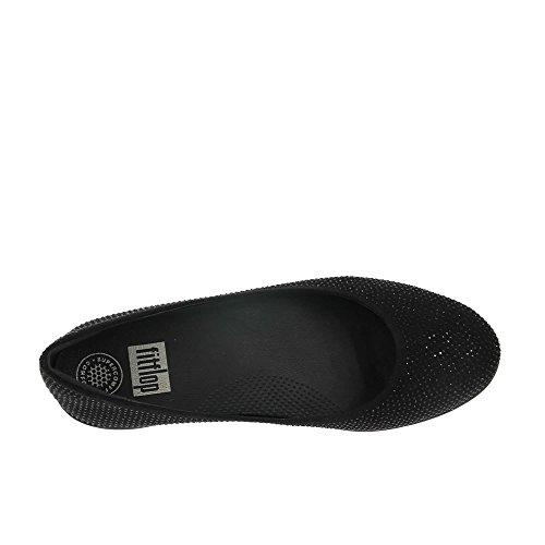 FitflopCrystal Superballerina - Zapatillas de ballet mujer Black (All Black)