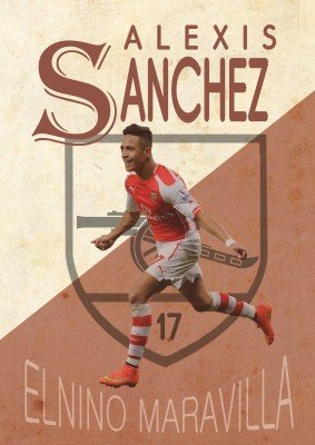 Alexis Sanchez Poster Paper Print(18 Inch X 12 Inch, Rolled)
