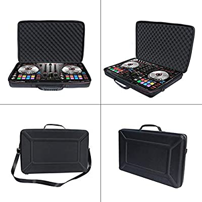 EVA Hard Case for Pioneer DJ DDJ-SR2,Portable 2-Channel Controller DDJ-SR Performance DJ Controller -Black from Redcolorful