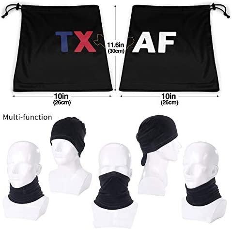 Texas AF ネックガード 日焼け防止 バンダナ 息苦しくない フェイスガード 多機能 スポーツ ターバン