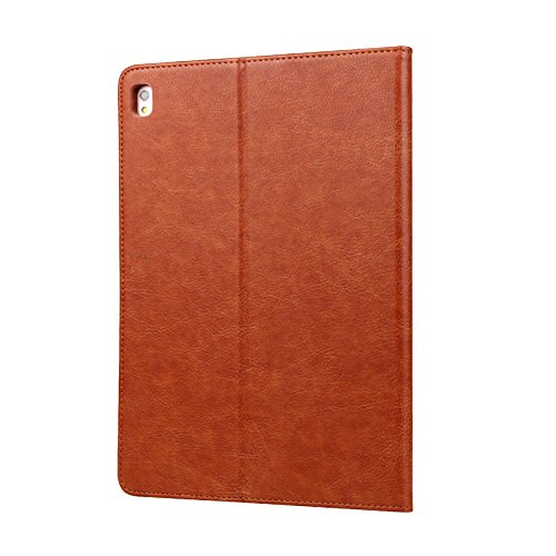 iPad Pro 10.5 Book Cover,Vacio Premium PU Leather Case Tablet Smart Stand Case Slim Fit Cover with Card Slot and Hand Strap for iPad Pro 10.5 inch.(Brown)