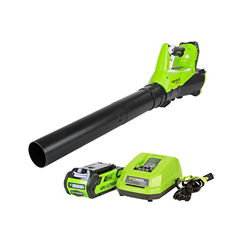 GreenWorks BA40L210 G-MAX 40V 115MPH - 430 CFM Cordless Brushless Blower, 2Ah Battery and Charger Included
