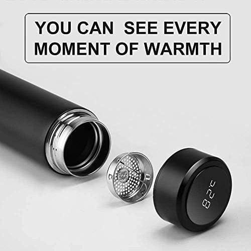 Bouteille deau Thermique 500 ML Tasse de Voyage Smart Cup LED Affichage de la temp/érature Bouteille sous Vide en Acier Inoxydable pour Garder au Chaud//Froid