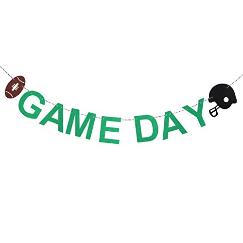 Football Party Decoration Banner Tinksky GAME DAY Football Cutouts 3 Meters ()