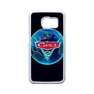 Generic for Samsung Galaxy S6 Edge Cell Phone Case White Cars 2 Custom HSOFHFHOJ2070