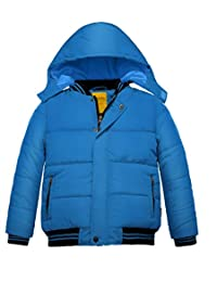 Wantdo Boy's Puffer Jacket Padded Winter Coat with Removable Hood