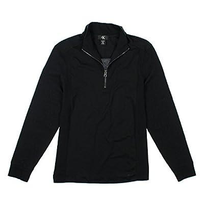 Calvin Klein Mens 1/4 Zip Long Sleeve Top