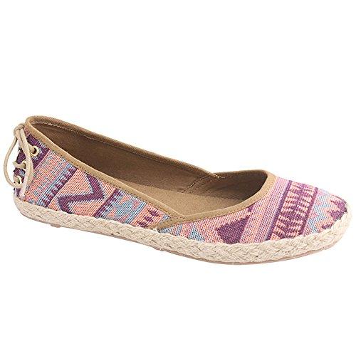 Bumper Womens Devyn01N Cute Flat Canvas Walking Shoes Peach PUIAsqd