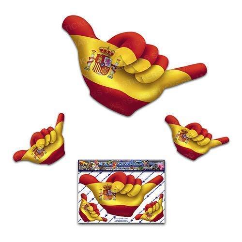 Calcomanías divertidas del coche Hangloose de la pequeña bandera española - ST00055SP_SML - JAS Stickers: Amazon.es: Handmade