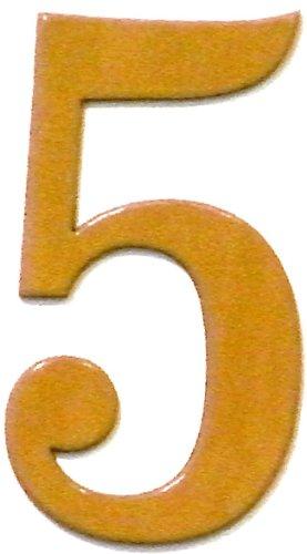 wood address numbers - 5