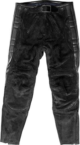 El Solitario (エルソリタリオ) RASCAL LEATHER MOTORCYCLE PANTS BLACK ラスカル モーターサイクル パンツ ブラック Mサイズ B07CPPGBTL